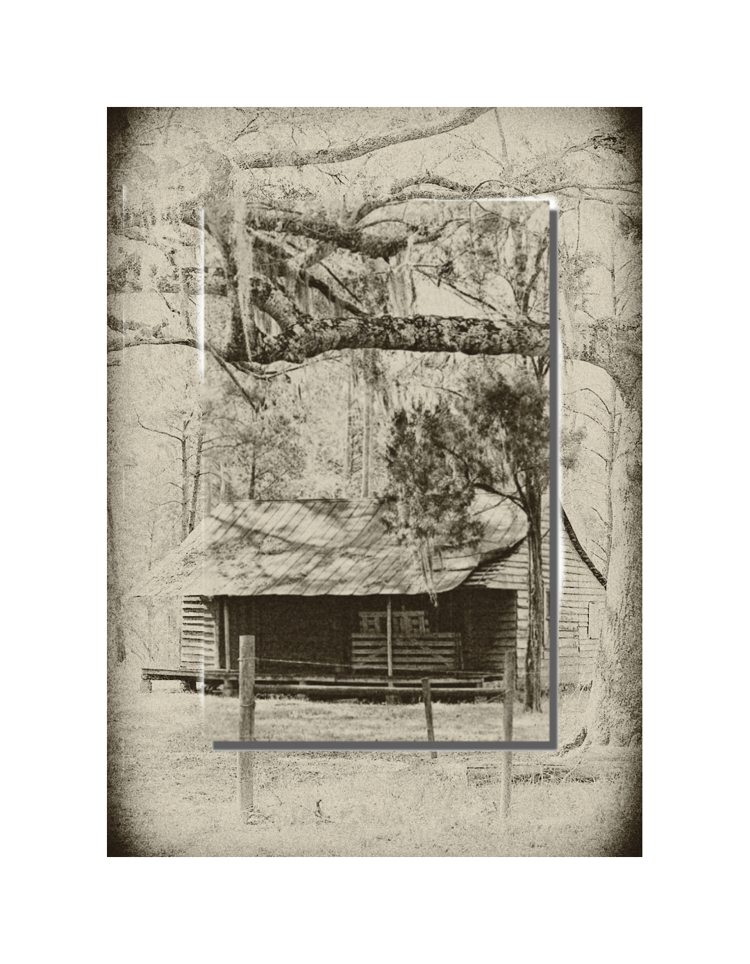 Sharecropper's Home (Vintage Style) DOUBLEFLOAT METALPRINT